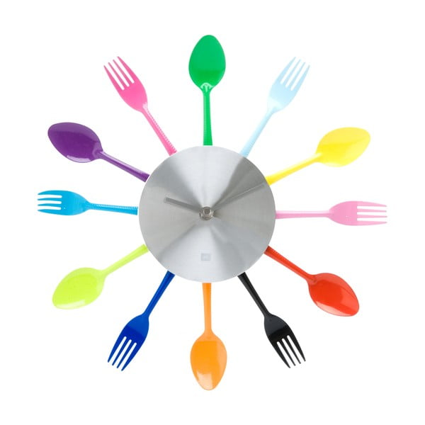 Příborové hodiny, barevné