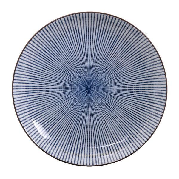 Modrý porcelánový talíř Tokyo Design Studio Yoko,⌀15,5cm