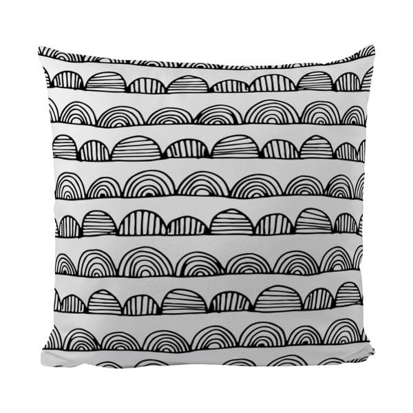 Polštářek Black Shake Bumby Stripes, 50x50 cm