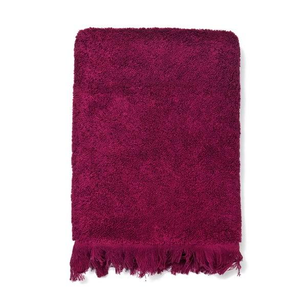 Sada 4 vínových bavlněných ručníků Casa Di Bassi Bath, 50x90cm