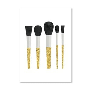 Plakát Americanflat Makeup Brushes, 30 x 42 cm