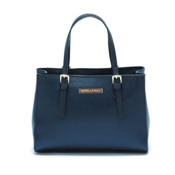 Classic Blu kék bőr kézitáska - Isabella Rhea