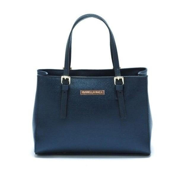 Modrá kožená kabelka Isabella Rhea Classic