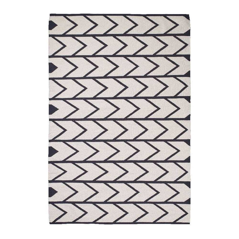 Černo-bílý koberec Think Rugs Manhattan, 120 x 170 cm