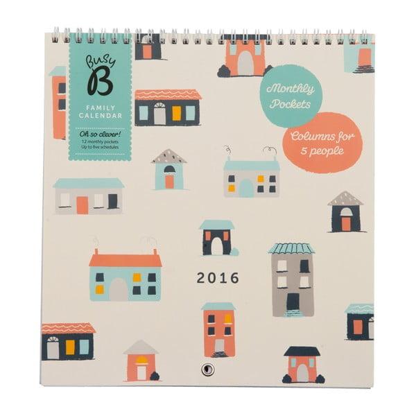 Rodinný kalendář Houses 2016