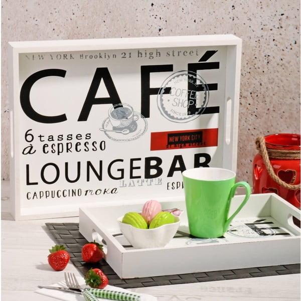 Sada 2 dřevěných táců Lounge Bar