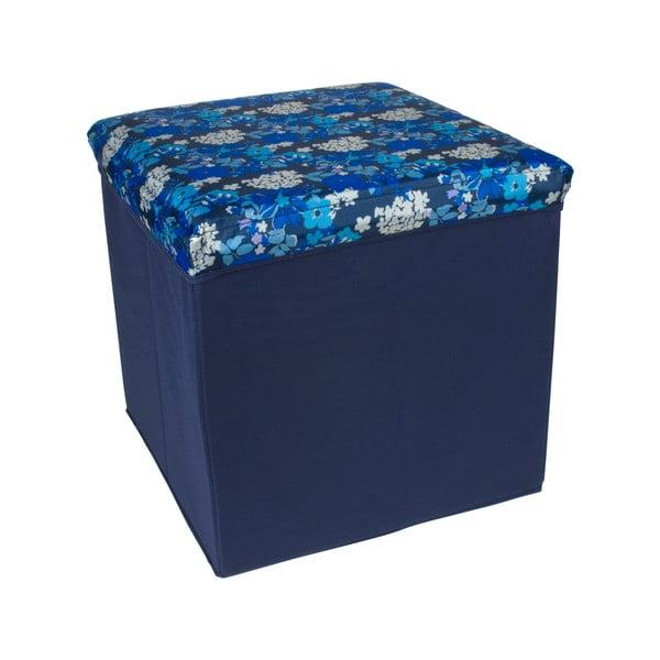 Skládací úložná krabice Blue Flowers