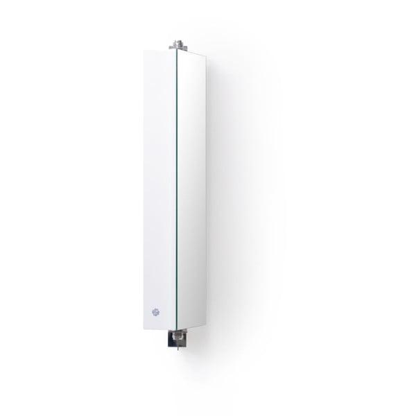 Bílá koupelnová skříňka se zrcadlem Wireworks Domain, výška 71 cm