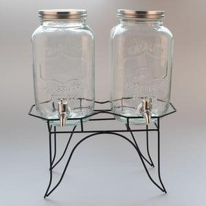Set 2 recipient pentru limonadă cu suport Dakls II, 3 l
