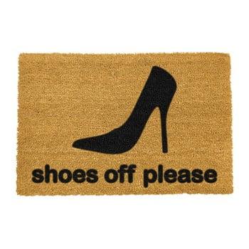 Covoraș intrare din fibre de cocos Artsy Doormats Shoes Off Please, 40 x 60 cm imagine