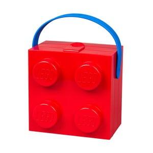 Cutie depozitare LEGO cu mâner, roșu