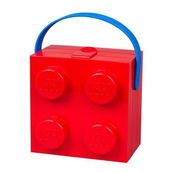 Cutie depozitare LEGO® cu mâner, roșu de la LEGO®