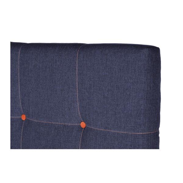 Tmavě modrá postel s matrací Stella Cadente Venus Saches, 160x200 cm