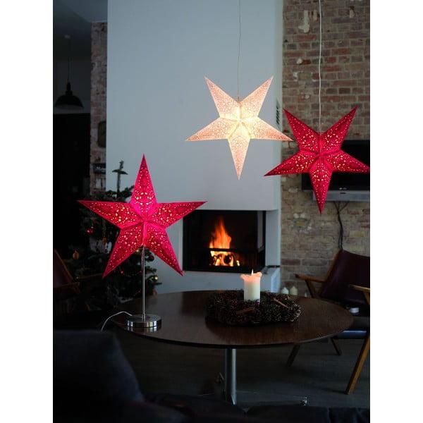 Dekorativní vánoční hvězda Airy White