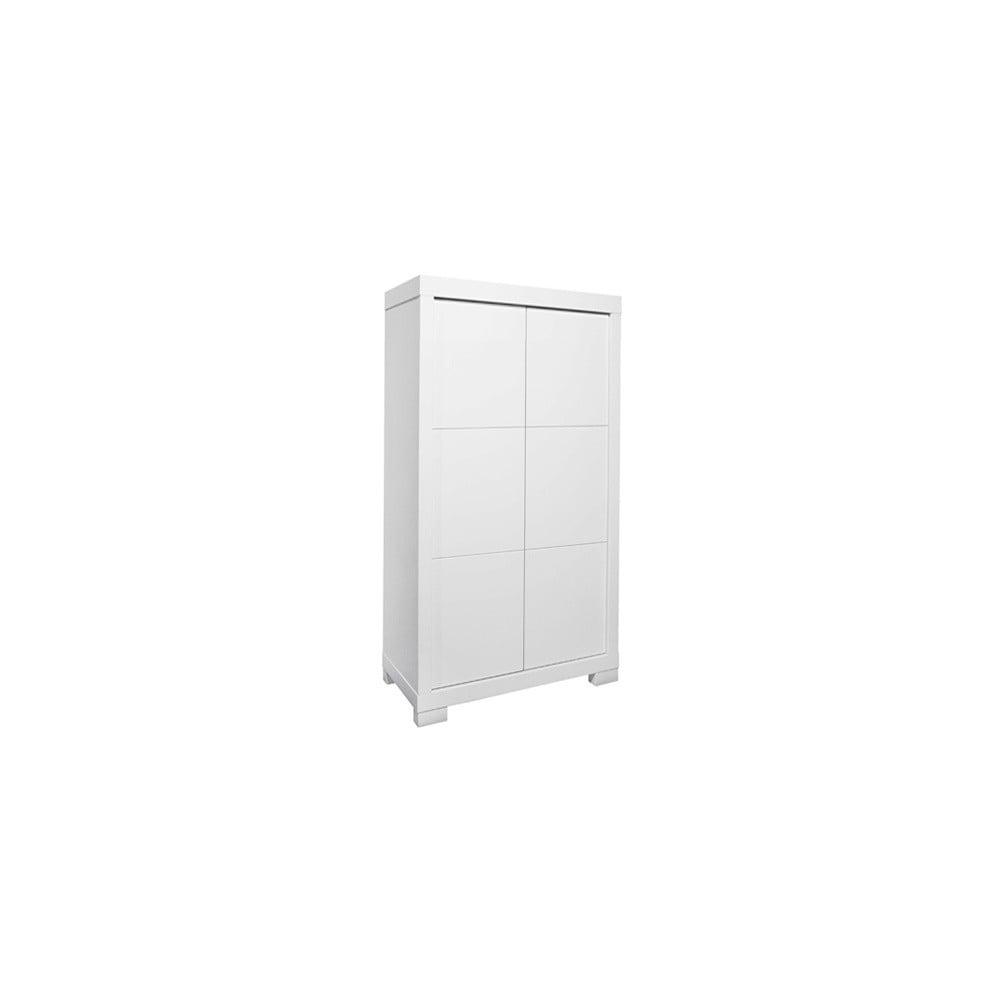 Bílá šatní skříň Núvol Laia