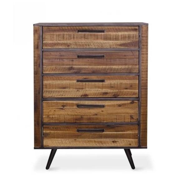 Komoda z masivního akáciového dřeva Massive Home Robbie, 100 x 130 cm