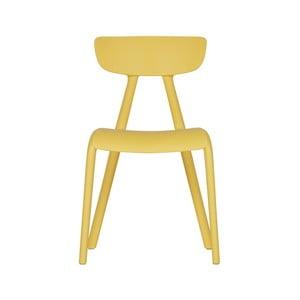 Žlutá dětská jídelní židle WOOOD Wisse