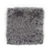 Pernă din blană cu fir scurt pentru scaun Egle, 37 x 37 cm, gri