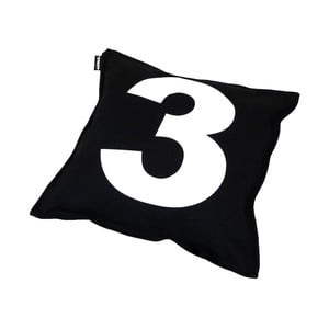 Polštář Lona Number 40x40 cm, černý