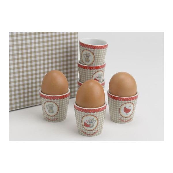 Set stojánků na vajíčko Petit Chatm 6 ks