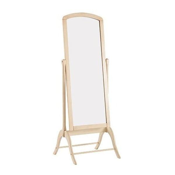 Krémové stojacie zrkadlo s rámom z kaučukového dreva Støraa Charles, výška 180cm
