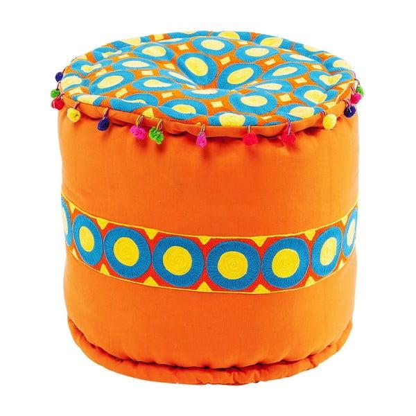 Oranžová stolička Kare Design Flick Flack, ∅45cm