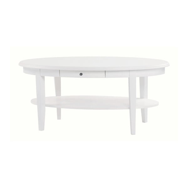 Bílý oválný konferenční stolek Folke Kosse
