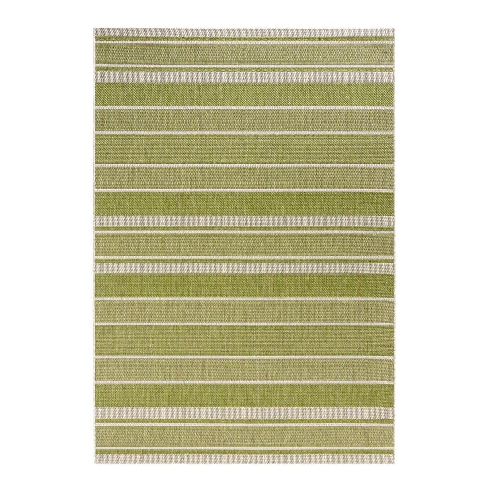 Zelený koberec vhodný do exteriéru Bougari Strap, 200x290cm
