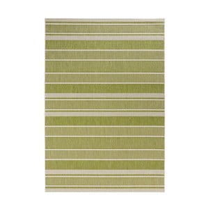 Zelený koberec vhodný do exteriéru Bougari Strap, 120x170cm