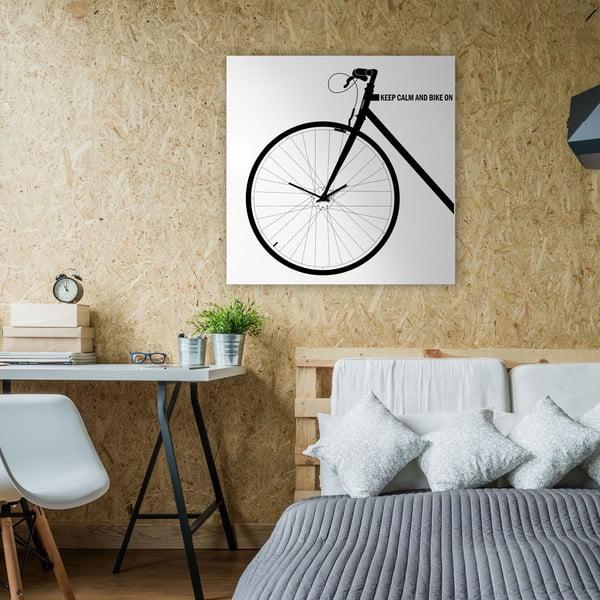 Nástěnné hodiny Bike White, 80x80 cm