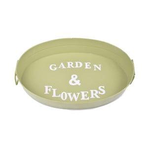 Zelený podnos Ego Dekor Garden & Flowers