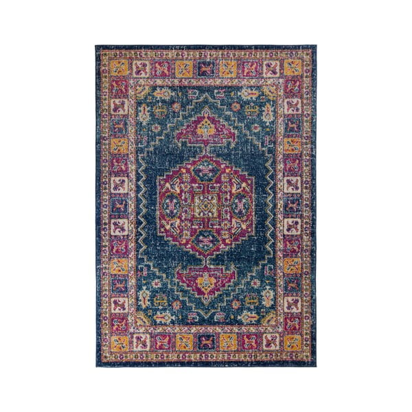 Koberec Flair Rugs Urban Traditional Blue Multi,100 x 150 cm