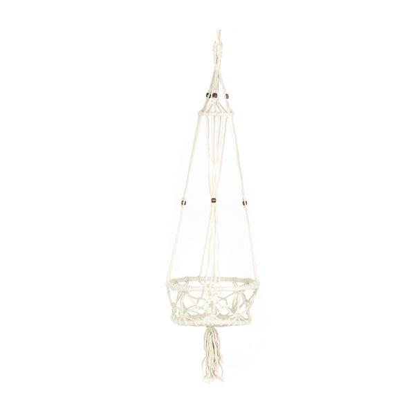 Závěsný držák na květináč Macrame Blanco, 25 cm