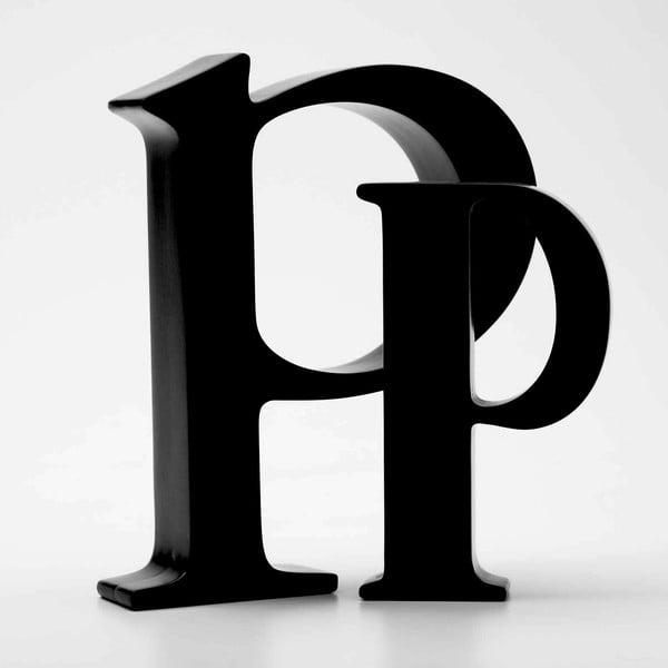 """Malé """"p"""" 17x14 cm, černá"""