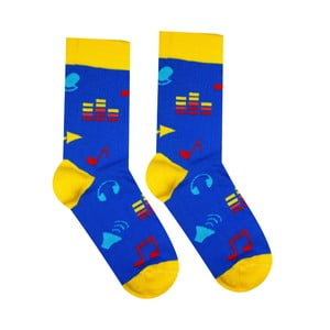 Bavlněné ponožky Hesty Socks Hudebník, vel. 39-42