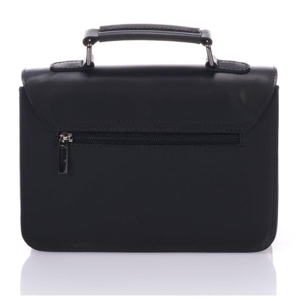 Černá kožená kabelka Lisa Minardi Cristel