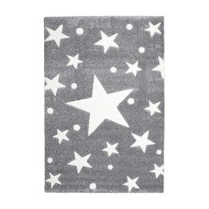 Šedý dětský koberec Happy Rugs Star Constellation, 80x150cm