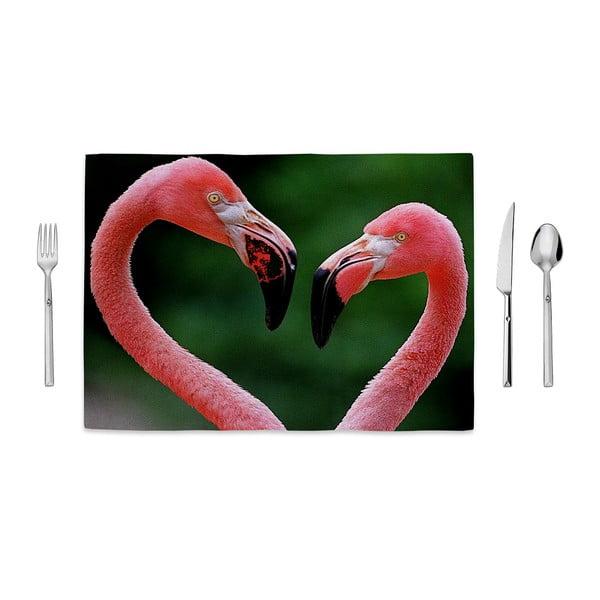 Prostírání Home de Bleu Two Flamingos, 35x49cm