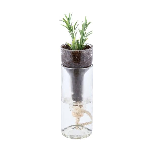Skleněný květináč se samozávlahou Esschert Design