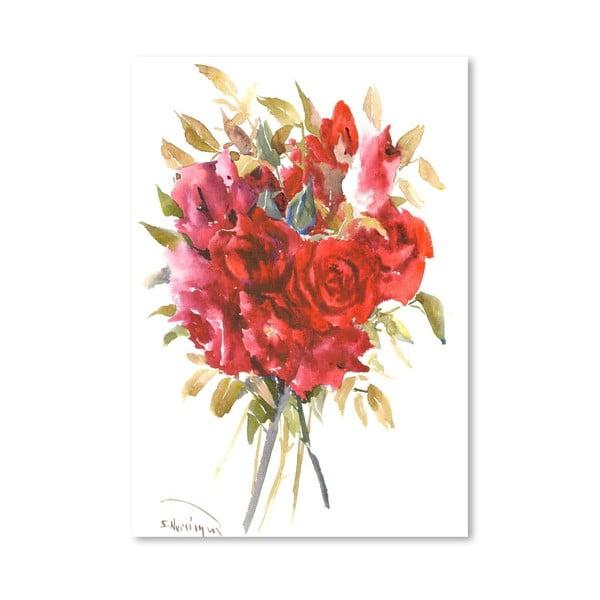 Plakát Burgundy Red Roses od Suren Nersisyan