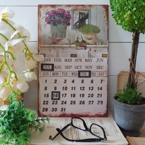 Stolní kovový kalendář Travel the World
