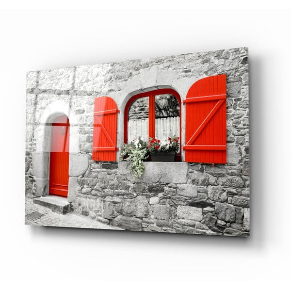 Tablou din sticlă Insigne Red Door and Window