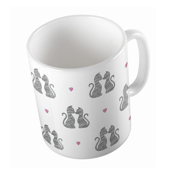 Keramický hrnek Cats in Love, 330 ml