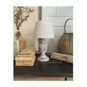 Bílá dřevěná stolní lampa Orchidea Milano, 34cm