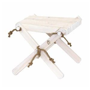 Bílá stolička z borovicového dřeva EcoFurn Lili