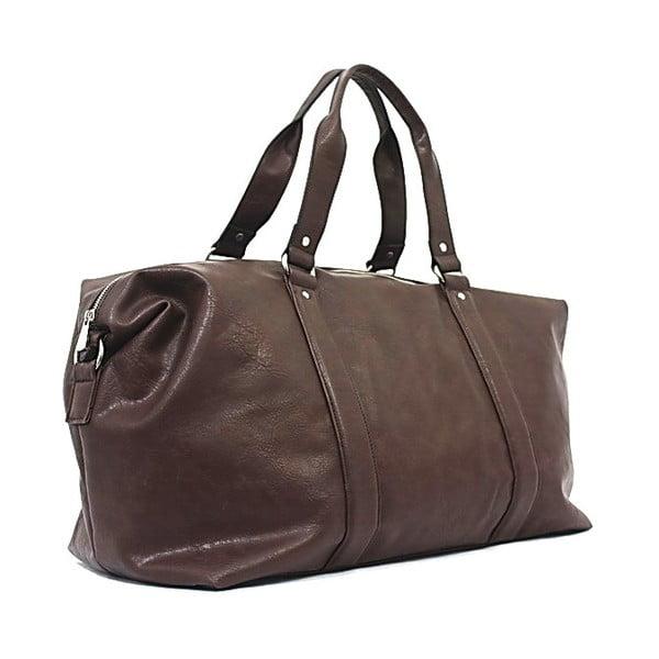 Cestovní taška Bobby Black - kávová, 50x33 cm