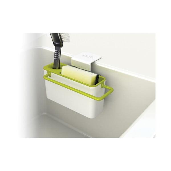 Bílo-zelený stojánek na mycí prostředky Joseph Joseph Sink Aid