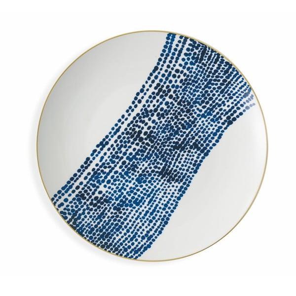 Sada 6 modrých porcelánových talířů na ovoce v 6 různých stylech Villad'Este Masai