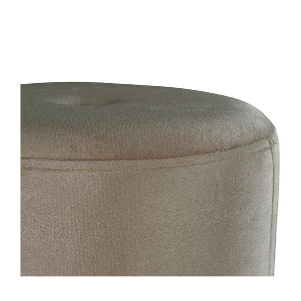 Šedý puf JohnsonStyle Ellen Magic Velvet, ⌀ 40 cm