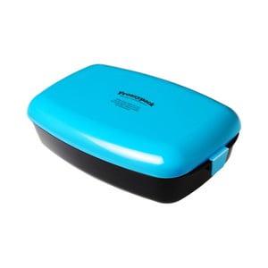 Chladící svačinový box Frozzypack no.2, black/turquoise